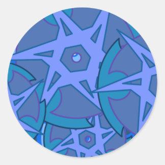 青い縁 ラウンドシール