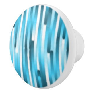 青い縞のノブ セラミックノブ