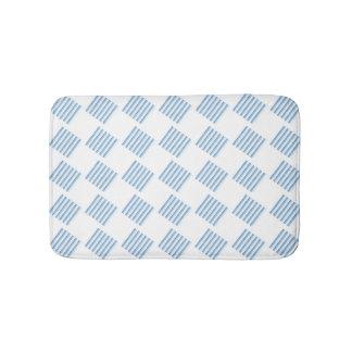 青い縞のバス・マット バスマット