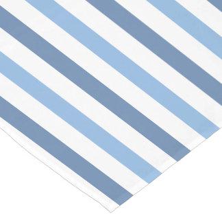 青い縞の小さいテーブルのランナー ショートテーブルランナー