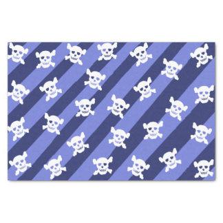 青い縞の白いどくろ印 薄葉紙
