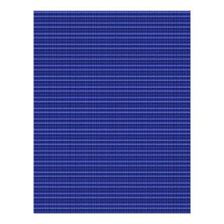 青い縞の質のテンプレートDIYは文字の写真を加えます レターヘッド