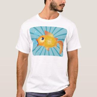 青い縞の金魚 Tシャツ