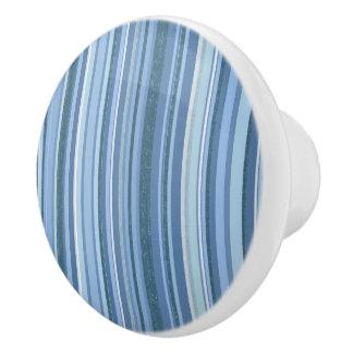 青い縞の陶磁器のノブ セラミックノブ