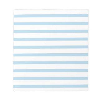 青い縞ビジネスクラシックが付いているメモパッド ノートパッド