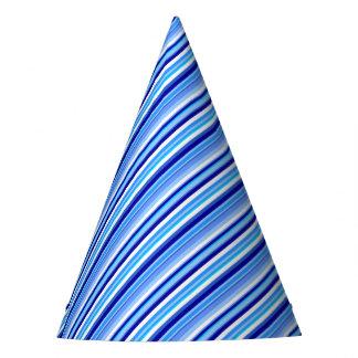 青い縞 パーティーハット
