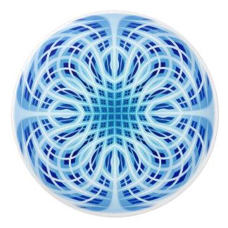 青い織り方 セラミックノブ