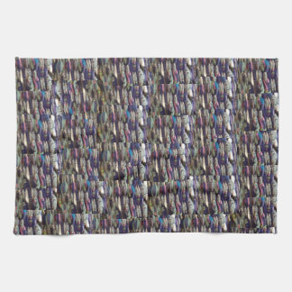 青い織物の編む台所タオル キッチンタオル