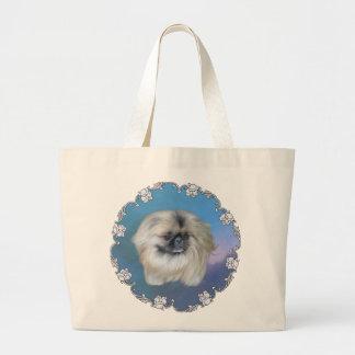 青い美しい ラージトートバッグ