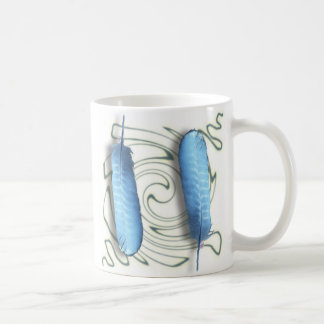 青い羽 コーヒーマグカップ