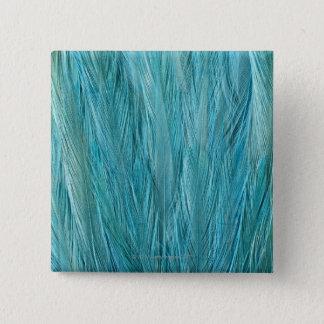 青い羽 5.1CM 正方形バッジ