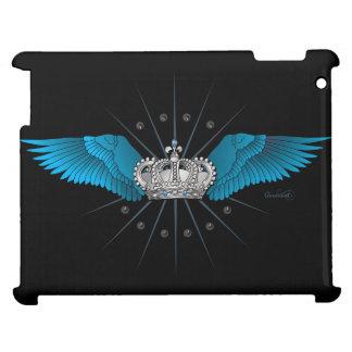 青い翼および王冠のiPad - 1 iPadケース
