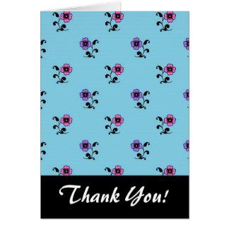 青い背景のかわいい花 カード