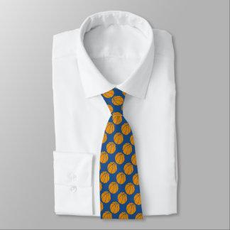 青い背景のオレンジバスケットボールのデザイン カスタムタイ
