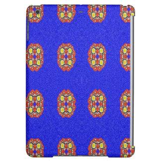 青い背景の抽象的なパターン iPad AIRケース
