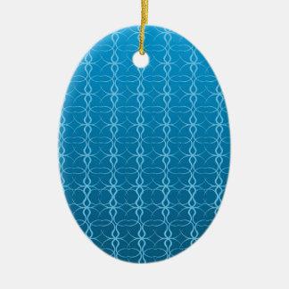 青い背景のFash セラミックオーナメント