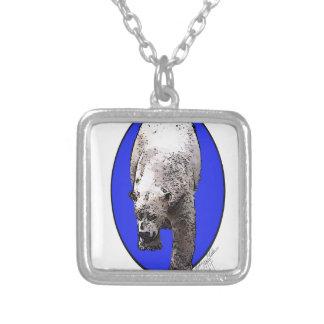 青い背景北極Bear_2017-04-23 15-06-09 シルバープレートネックレス