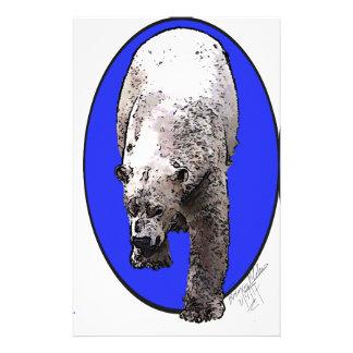 青い背景北極Bear_2017-04-23 15-06-09 便箋