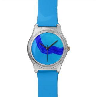 青い腕時計 腕時計