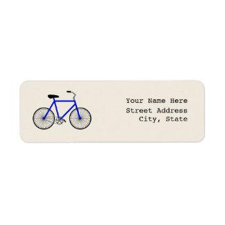 青い自転車の宛名ラベル ラベル