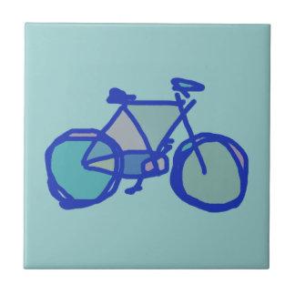 青い自転車 タイル