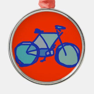 青い自転車 メタルオーナメント