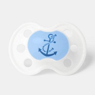 青い船のいかりの航海のな海洋のテーマ おしゃぶり