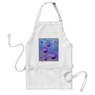 青い色のアメジストによって宝石で飾られる紫色のアイリス スタンダードエプロン