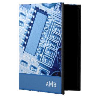青い色のモダンなマザーボードパターン iPad AIRケース