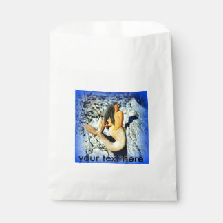 青い色合いの眺望の人魚 フェイバーバッグ