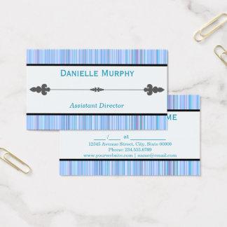 青い色相のストライプのなアポイントメントまたは名刺 名刺
