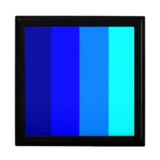 青い色相-縞で飾ります! ギフトボックス