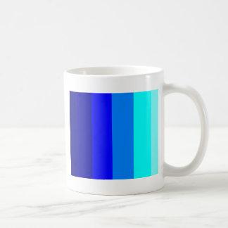 青い色相-縞で飾ります! コーヒーマグカップ