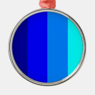 青い色相-縞で飾ります! メタルオーナメント