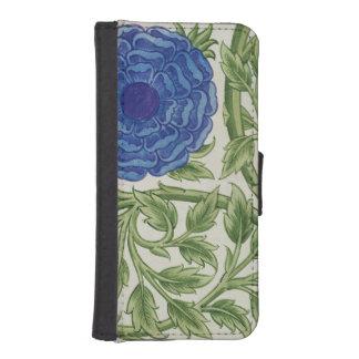 青い花が付いている植物(w/c紙で) iPhoneSE/5/5sウォレットケース