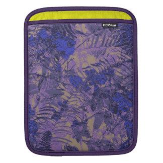 青い花に対するカムフラージュ iPadスリーブ