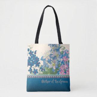 青い花のお気に入りのな新婦付添人のギフト トートバッグ