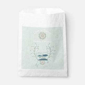 青い花のカスタムな結婚式の引き出物のバッグ フェイバーバッグ