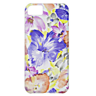 青い花のデジタルデザインによっては自然の花びらFが開花します iPhone5Cケース