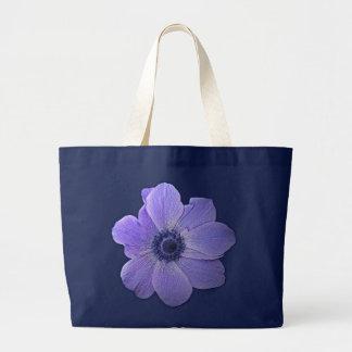 青い花のトートバックの花のビーチのトートバック ラージトートバッグ
