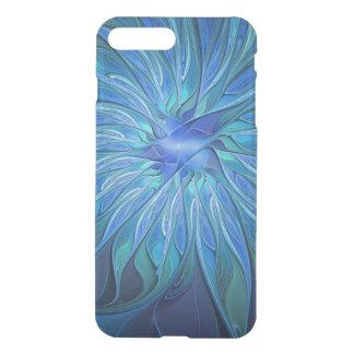 青い花のファンタジーパターン、抽象的なフラクタルの芸術 iPhone 7 PLUSケース