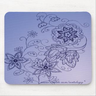青い花のマウスパッド マウスパッド