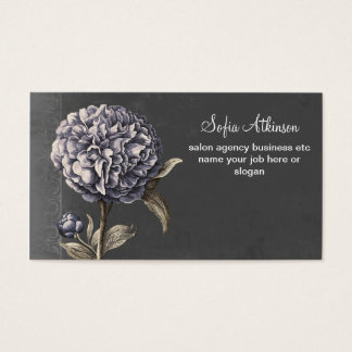 青い花のヴィンテージの名刺 名刺