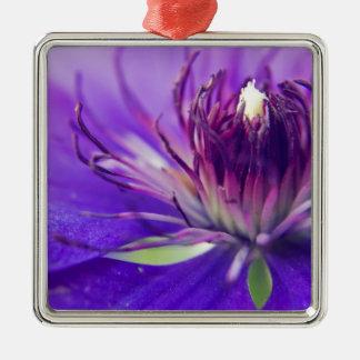 青い花の写真のファインアートの自然のがく メタルオーナメント