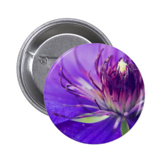 青い花の写真のファインアートの自然のがく 5.7CM 丸型バッジ