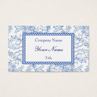 青い花の名刺 名刺