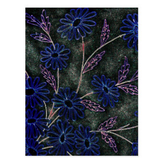 青い花の暗闇 ポストカード