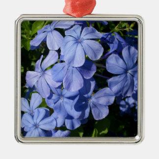 青い花の束 メタルオーナメント