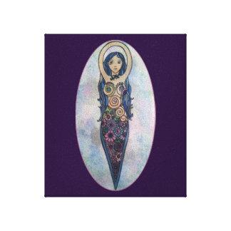 青い花の螺線形の女神 キャンバスプリント