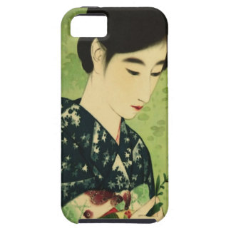 青い花のiPhone 5の箱との日本のな美しい iPhone SE/5/5s ケース